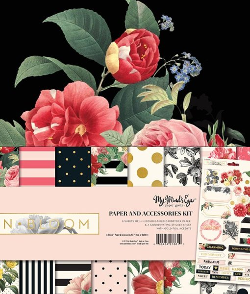 My Mind's Eye In Bloom Scrapbook Paper at Craft Warehouse