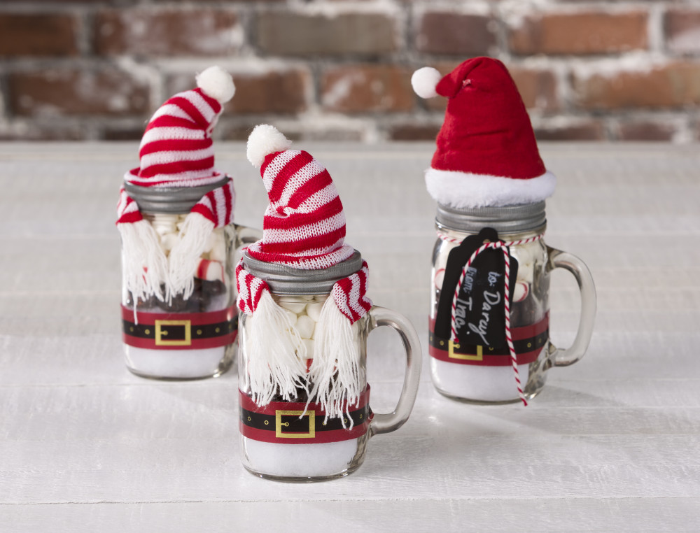Santa hot cocoa mason jar