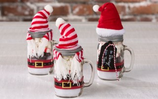 Santa hot cocoa mason jar