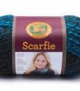 Scarfie Charcoal and Aqua Yarn