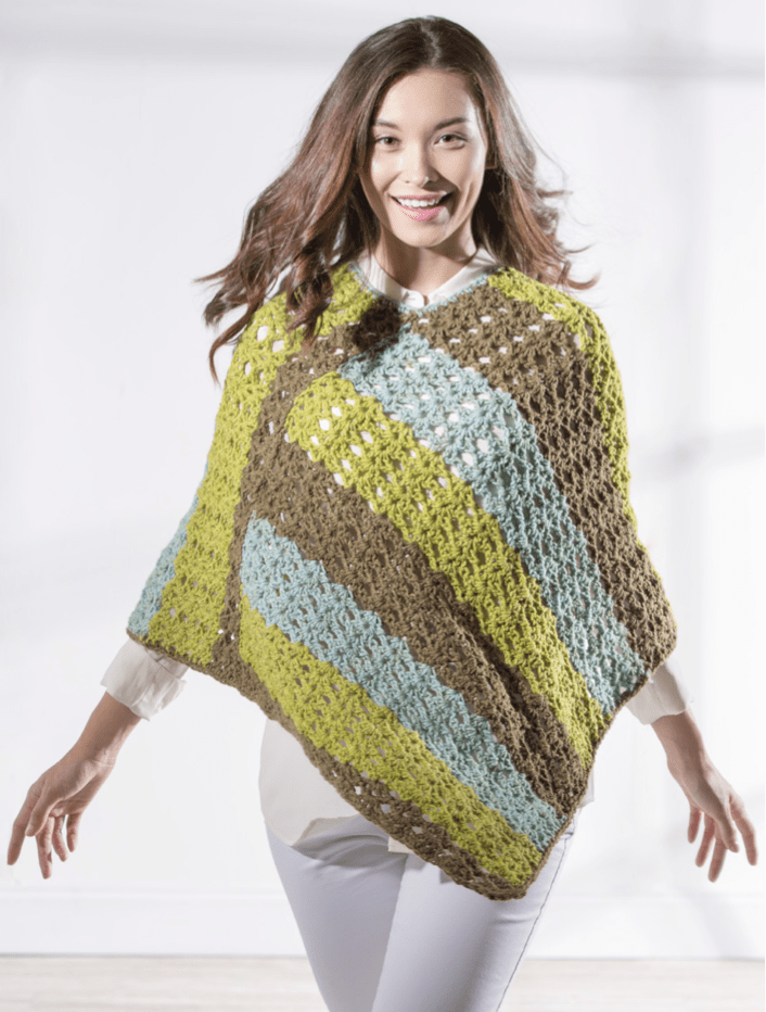 Sweet Roll Poncho by Premier Yarns available at Craft Warehouse