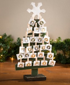 Christmas Advent countdown tree