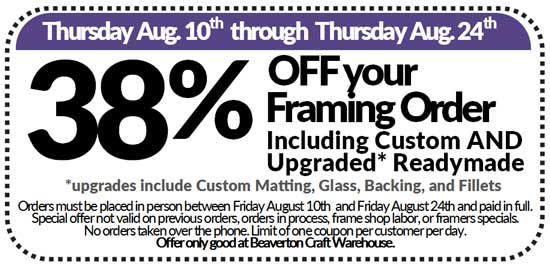 Summer Saving Framing Coupon @ Beaverton Location | Beaverton | Oregon | United States