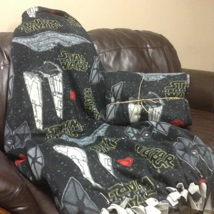 Star Wars Fleece No Sew Blanket