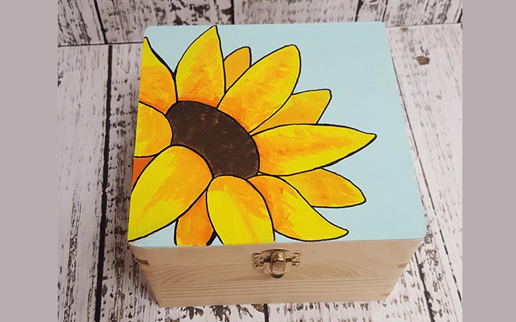 Happy Hour - Sunflower Keepsake Box