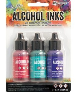 Tim Holtz Alcohol Ink Packaged in sets of 3
