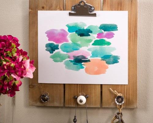 12x12 Watercolor Print slatboard model