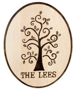Family plaque made with versa Wood Burning Tool Kit at Craft Warehouse