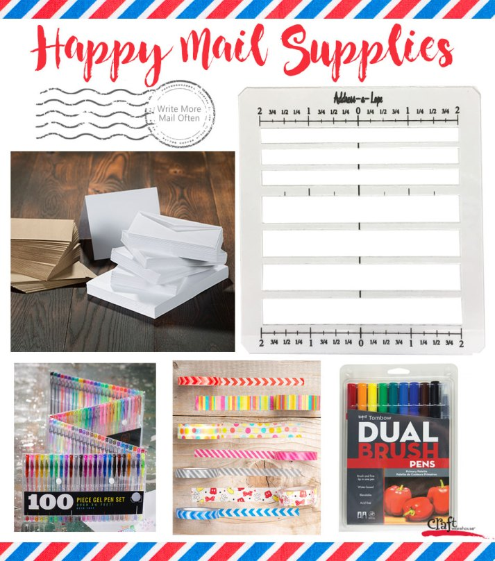 Happy Mail Supplies from Craft Warehouse - Mail Art