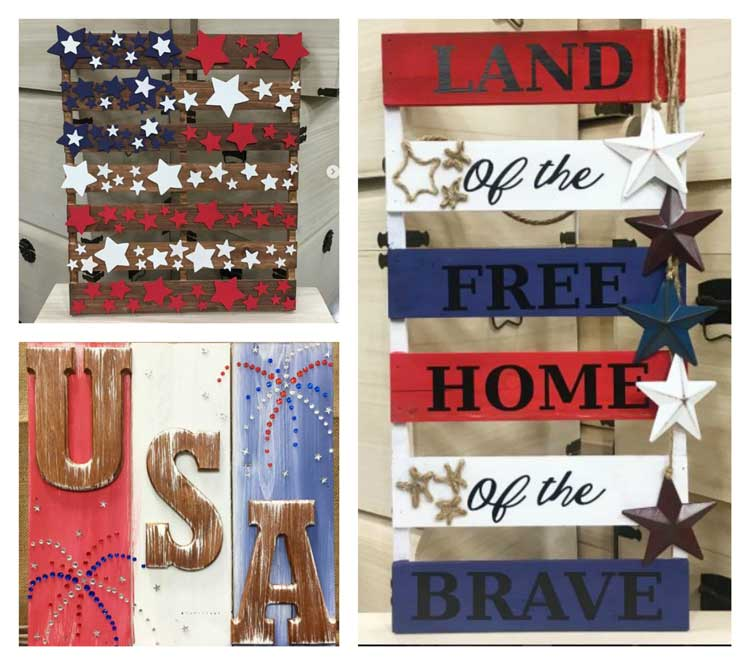 Make these fun Americana Projects at Craft Warehouse