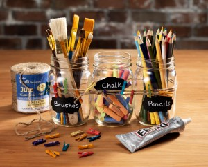 chalkboard lable art mason jar organizing