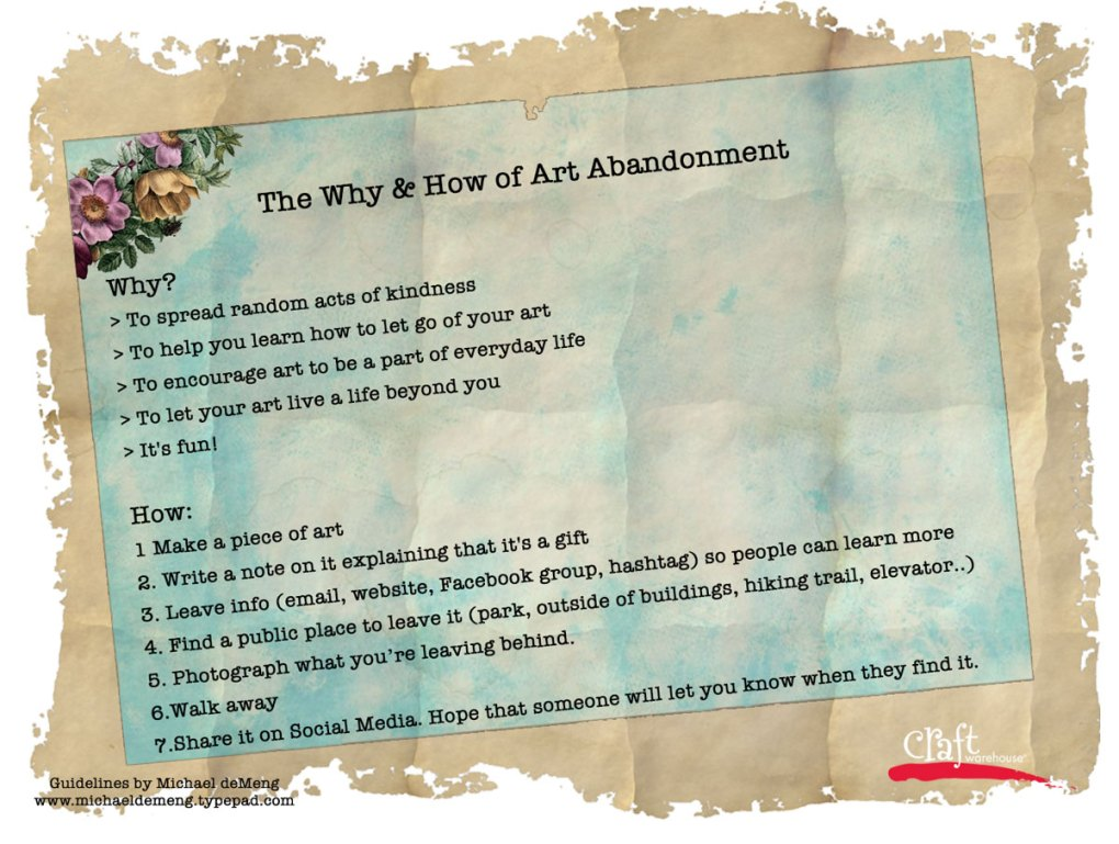 Rules of Art Abandonment - Craft Warehouse