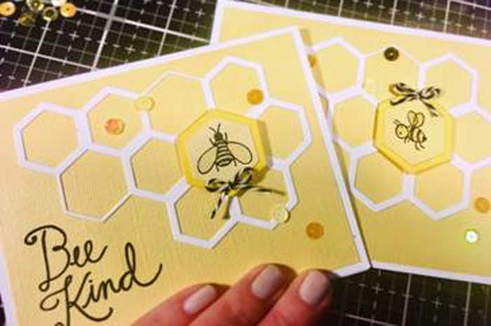 """Bee Kind"" Card Make and Take @ All Location 
