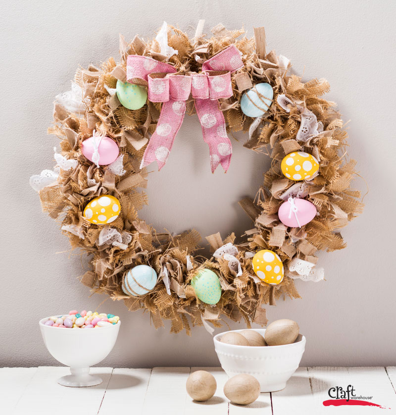 Make this Bird's Nest Wreath for Easter Spring Decor