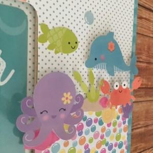 doodle bug under the sea nursary girls frame