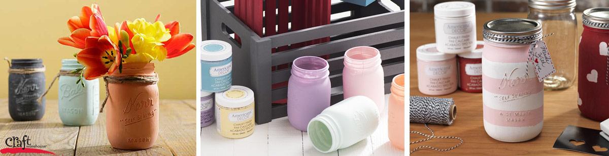 Painting Mason Jars with Chalk Paint at Craft Warehouse