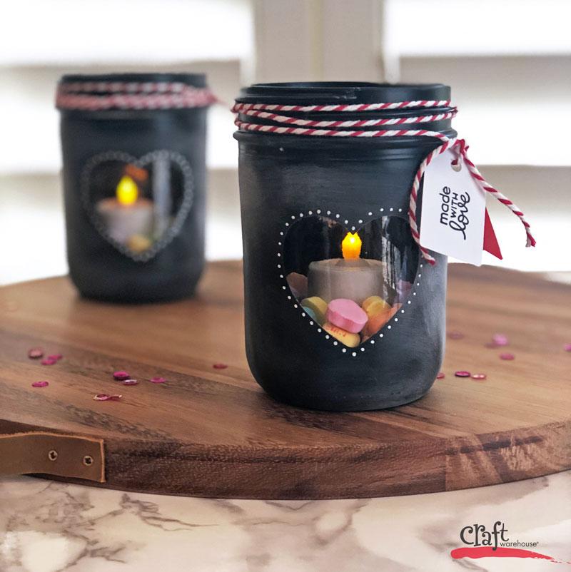 Make this: Valentine Painted Luminary