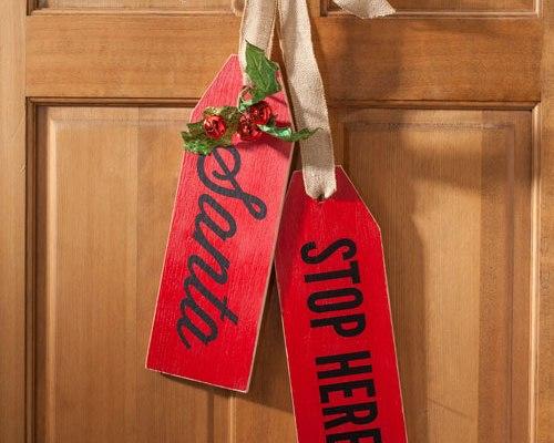 Christmas Large Wood tags