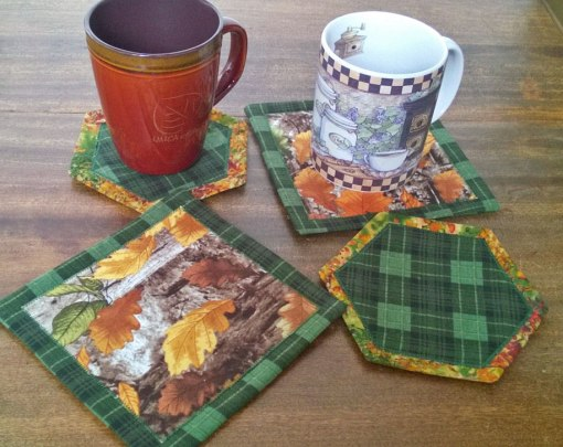 coasters made from precuts from dimensional wreath