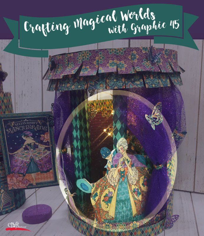 Crafting Magical Worlds with Graphic 45 Paper at Craft Warehouse
