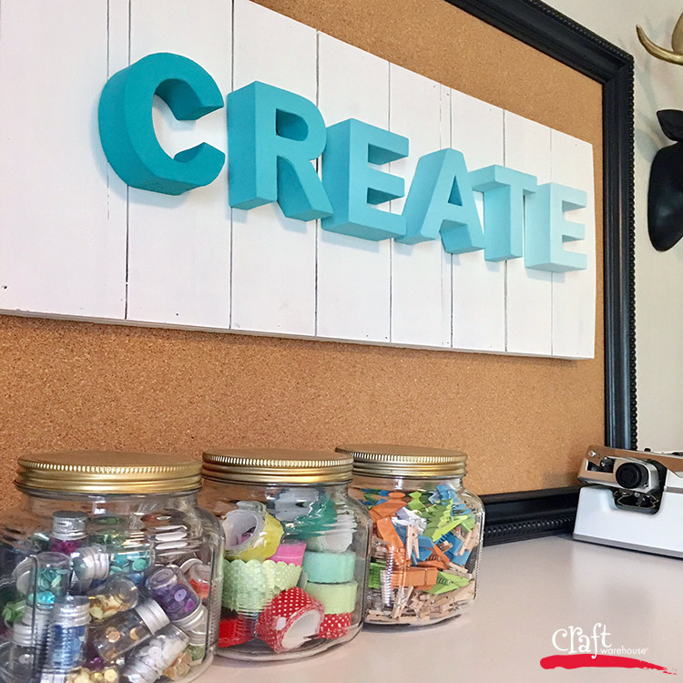 Craft Room Decor, make it with supplies from Craft Warehouse