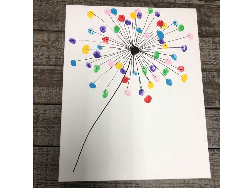 Kid's Camp: Dandelion Canvas Art @ All Locations