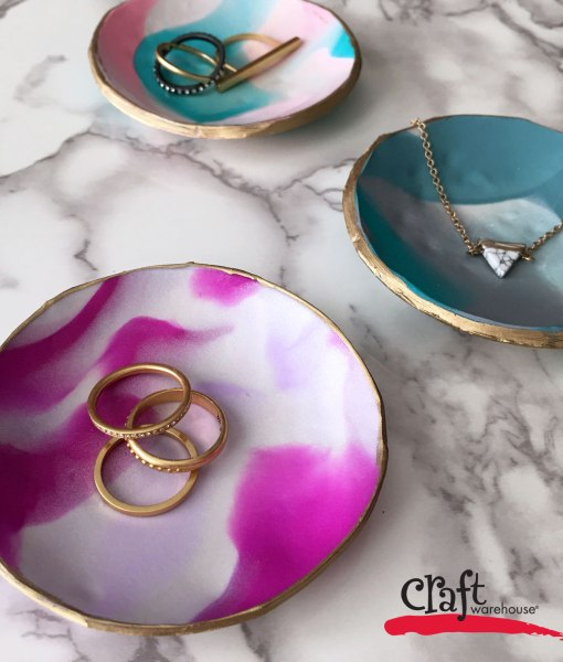 Jewelry Dishes made with Sculpey Oven Bake Clay