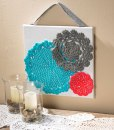 Dye Doilies and Mount on Canvas