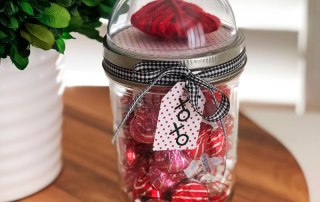 Make a Domed Mason Jar with Kisses for Valentine's Day