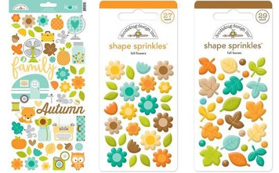 Doodlebug Stickers and sprinkles available at Craft warehosue