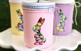 Easter How to Make this Bunny Trio Mason Jar Display