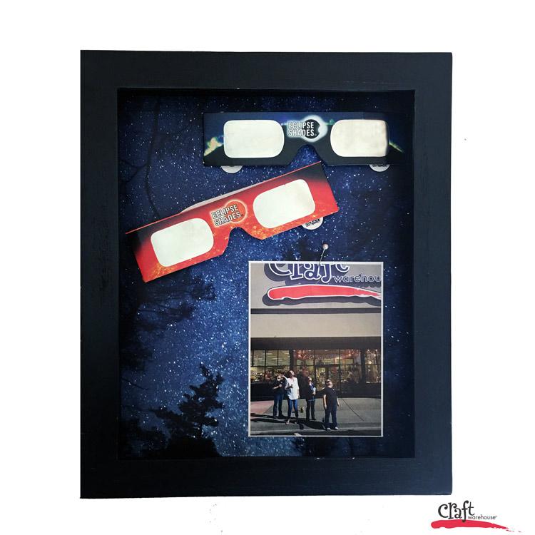 Make this souvenir eclipse shadowbox