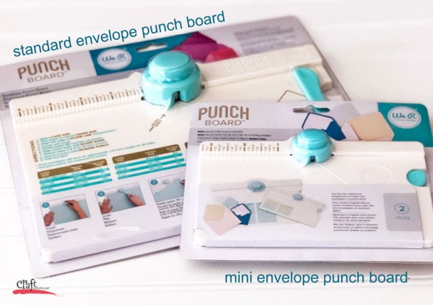 Mini and Standard Envelope Punch Board
