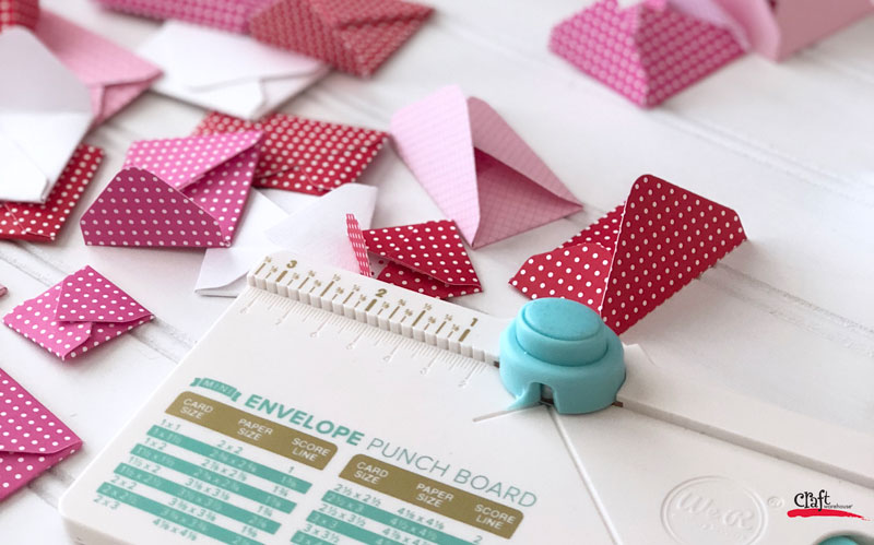 Making mini-envelopes with the Mini Envelope Punch Board from We R Memory Keepers