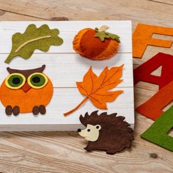 Fall Felt Patterns from Craft Warehouse
