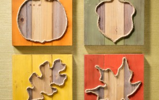 Fall Slat boards Decor with Jute