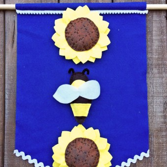 Sunflower Banner made from Felt Patterns
