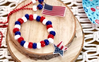 Make this Flag Shrinky Dink Jewelry for the 4th