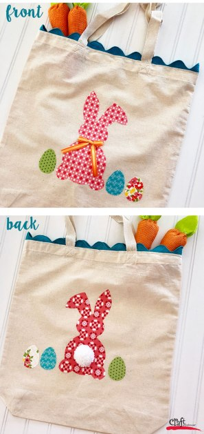 Bunny Tote front and back
