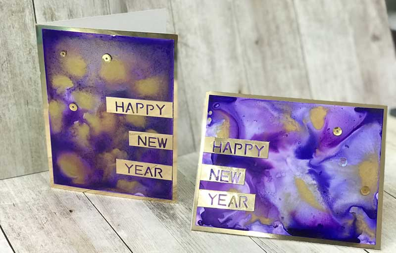 new year card make take