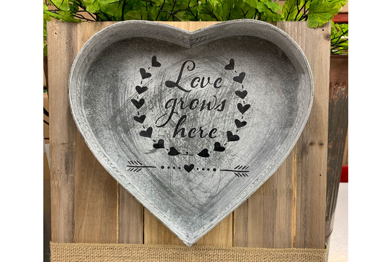 Heart Stenciled Wall Art