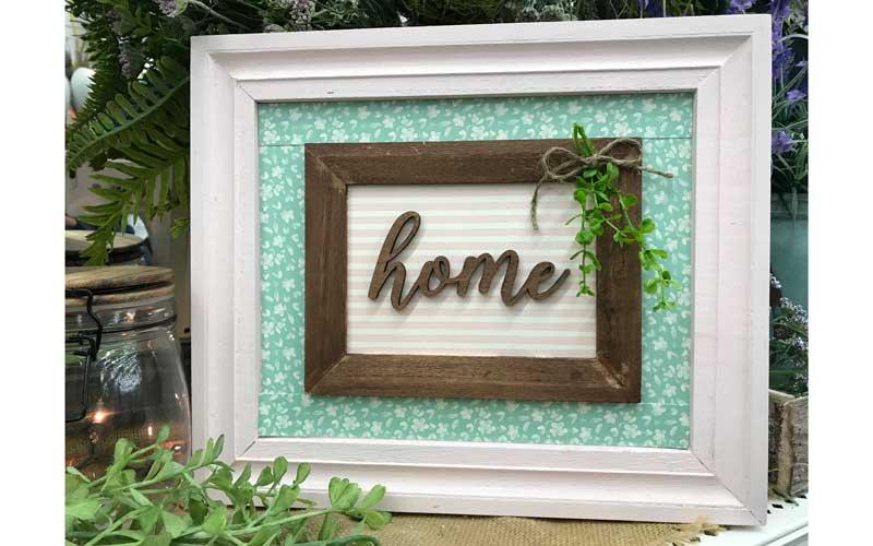"Happy Hour: ""Home"" Frame"