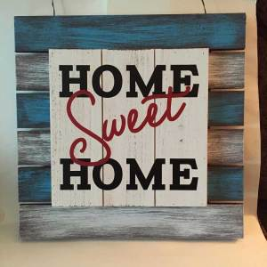 pallet board home sweet home