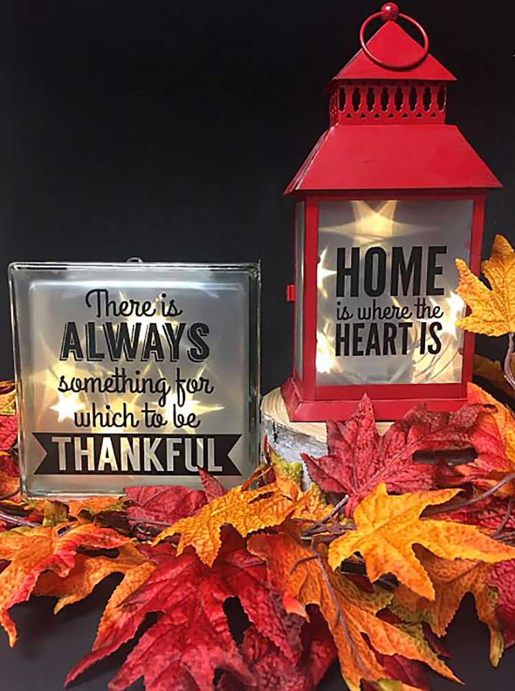 Lantern and Glass Vinyl Projects from Craft Warehouse