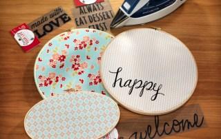 Iron on embroidery hoop