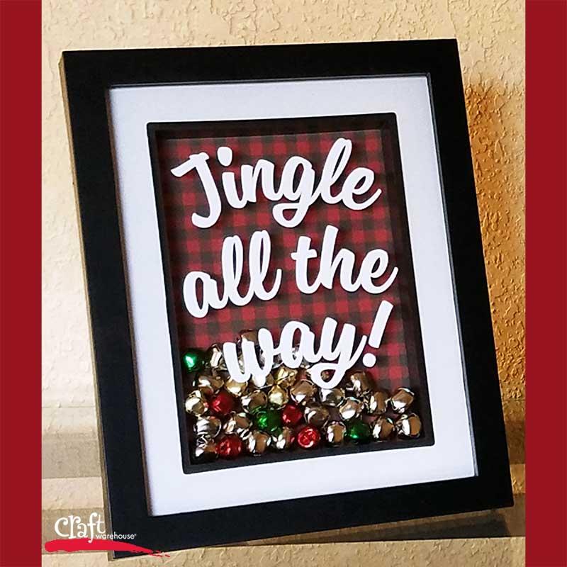 Make this: Jingle All the Way Shadowbox Frame | Craft Warehouse