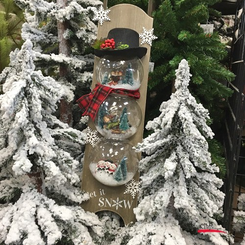 Make a Snowman SnowGlobe on a Sled at Craft Warehouse
