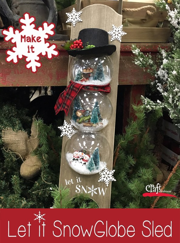 Make the SnowGlobe Snowman Sled at Craft Warehouse
