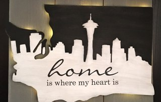 Light Up Seattle Wall Art from Craft Warehouse
