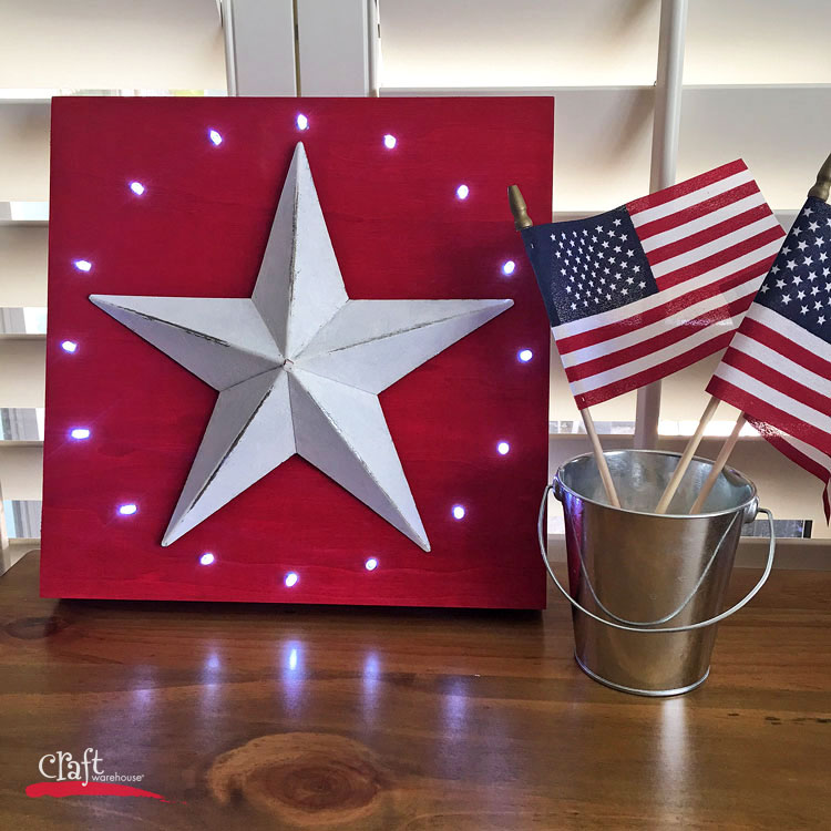 Make this Light Up Star Decor Sign at Craft Warehouse